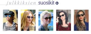 Sunglasses shop julkkisten suosikit