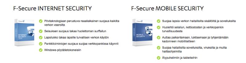 F-Secure tuotteet
