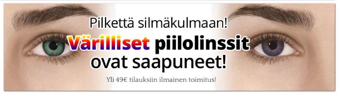 Pillaritnetista.fi värilliset piilolinssit