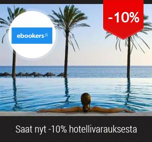 Saat 10% alennuksen hotelleista