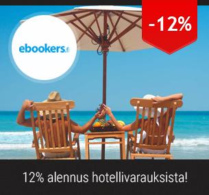 12% alennus hotellivarauksista