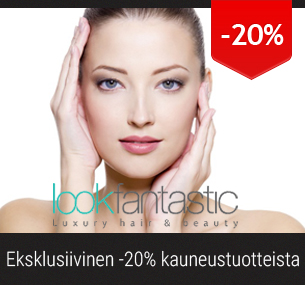 20% alennus kauneustuotteista